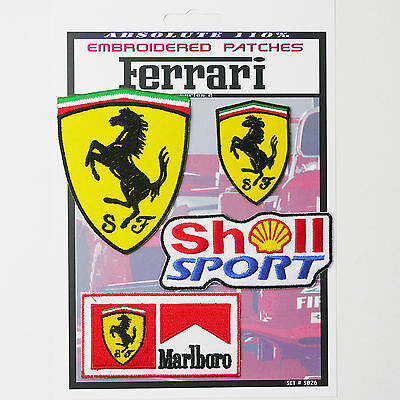 FERRARI F1 RACING MOTORSPORT PATCHES Iron-On Patch Super Set #026 - FREE POSTAGE