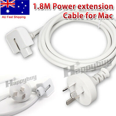 AU Power Extension Cable Cord for Apple MacBook Pro Air AC Wall Charger Adapter
