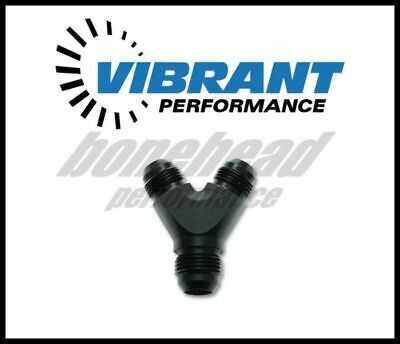 Vibrant Y Adapter Fitting; Size: -8AN In x -8AN x -8AN Out