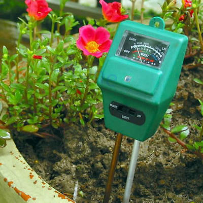 3 in 1 PH Tester Soil Water Moisture Light Test Meter for Garden Plant Flower OR