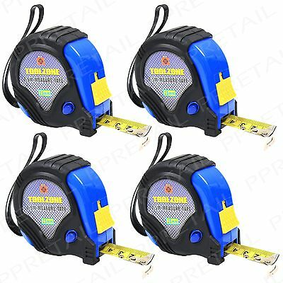 4x 7.5M Tape Measure LARGE Top Quality Professional Toolbox DIY Measurement