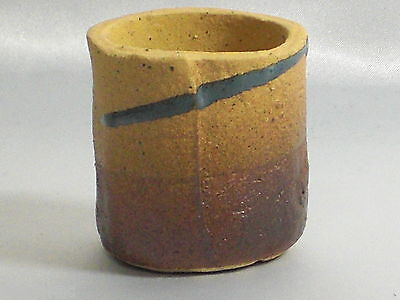 "Bonsai Pot Shigaraki Stoneware /""Ocher Small Pot/"" d10cm Planter Japanese"