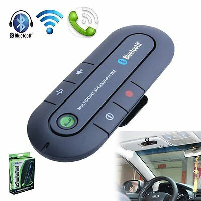 Bluetooth V4.1 In-car Visor Hands-free Music Speaker for Samsung iPhone HTC Sony
