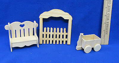 Miniature Wooden Picket Fence Gate  #311 Alessio Miniatures 1//12th Scale