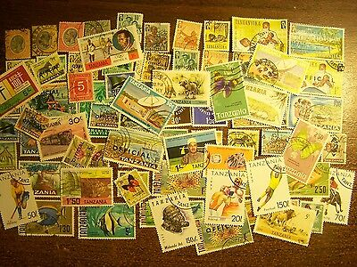 TANGANYIKA/TANZANIA – 75 Different Used Stamps, 1920s-1990s - FREE SHIPPING