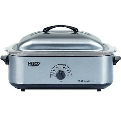 NESCO 18 Qt. Stainless Steel Base, Cover & Cookwell 4818-25-20 KITCHEN APPLIANCE