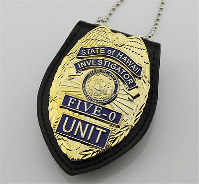 Souvenirs Hawaii Police / Hawaii Five-0 / metal badge / can hang waist /Set neck
