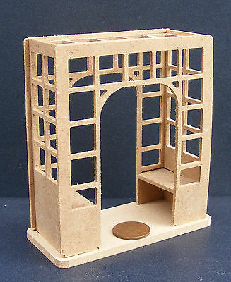 Flat Pack Natural Finish 1:24 Scale Single Arch Dolls House Miniature Accessory