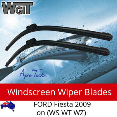 Windscreen Wiper Blades For FORD Fiesta 2009 on (WS WT WZ) - Aero Design  (PAIR)