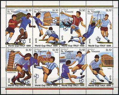 Grenadines St. Vincent 1989 SG#609-616 World Cup Football MNH Sheet #A92102