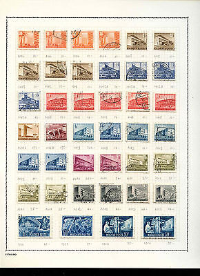 Hungary 1951-1958 Album Page Of Stamps #V3599