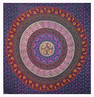 Indian Wall Hanging Tapestry Mandala Hippie Tapestries Bohemian Twin Throw Sb174