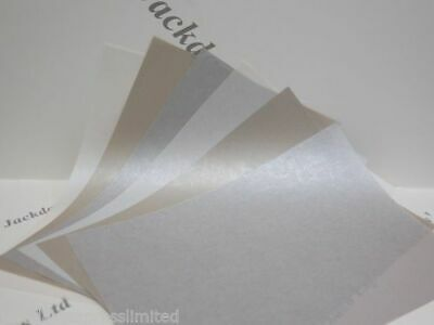 Vellum Parchment Translucent Shimmer A4 115gsm Paper 10 x Silver Ivory or Mink