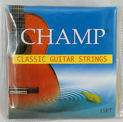 Set Of Champ Classical Guitar Strings Nylon Silver Plated Normal Tension
