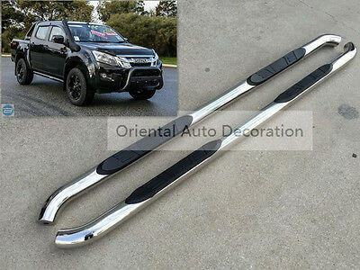 3'' Stainless steel Side Steps/BAR Running Board For ISUZU D-MAX dual cab 12-17
