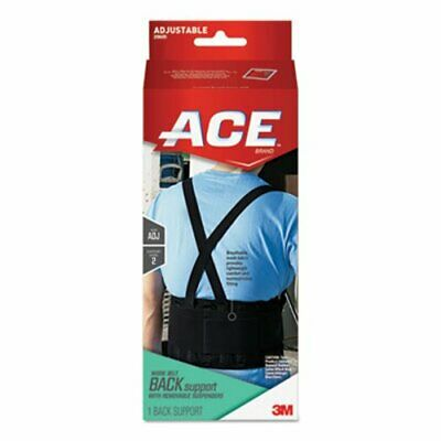"""Ace Work Belt with Removable Suspenders, Fits Waists Up To 48"""", Blk (MMM208605)"""