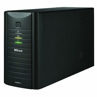 Trust Oxxtron 1500VA UPS Uninterruptible Power Supply USB Manageable RFI Filter