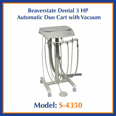 Beaverstate Dental 3 HP Automatic Duo Cart with Vacuum S-4350