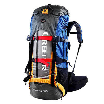 60L Climbing Outdoor Travel Backpack Sport Camping Hiking Rucksack Bag CR System