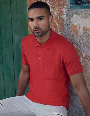 Fruit of the Loom Herren Poloshirt Kurzarm mit Brusttasche Shirt S - XXL 3XL