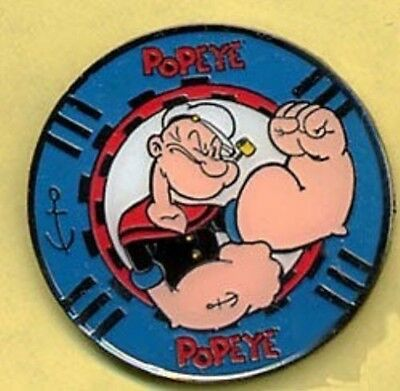 Popeye Poker Chip Style Collector Pin