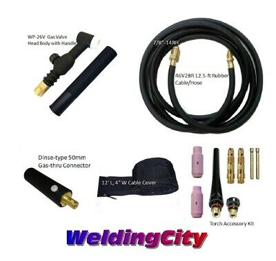 TIG Welding Torch Set #26V 150A 12-ft Air-Cool for LINCOLN Welders w/Free Gloves