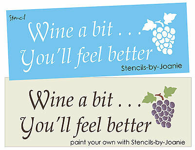 Joanie Stencil Wine A Bit You Feel Better Kitchen Bar Cellar French Chic Signs