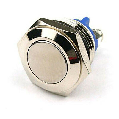 16mm Anti-Vandal Momentary Metal Stainless Steel Push Button Switch Flat Top