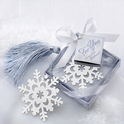 1PC Silver Tone Snowflake Bookmark Present Gift Wedding Birthday Christening