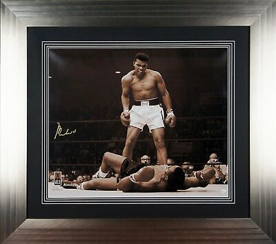 Signed Autographed Muhammad Ali Large Framed Sepia Photo-COA - Online Authentics