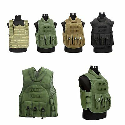 NcStar Police Airsoft Tactical Military Combat Molle Assault Plate Carrier Vest