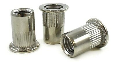Threaded Rivet Insert Riv Nuts - Stainless Steel - M4 M5 M6 M8 M10 Nutserts