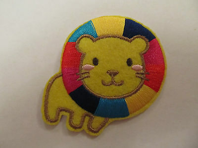 Lion Animal with Colourful Maine Iron on Applique Patch