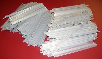 """200 Plastic Twist Ties Clear 6"""" Inches - General Use"""