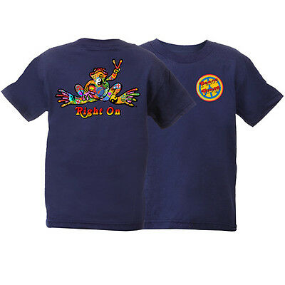 Peace Frogs Navy Buttons Youth Large (14-16) T-Shirt