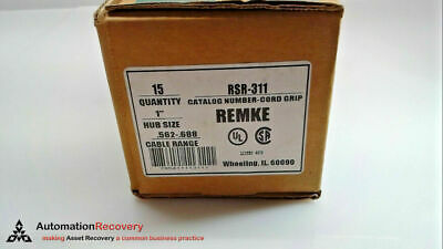 """Remke Rsr-311 - Box Of 15, Straight Style, 1"""" Cord Grip, New #202245"""