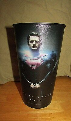 Superman Man of Steel movie cinema premier jumbo promo drinking cup EUC