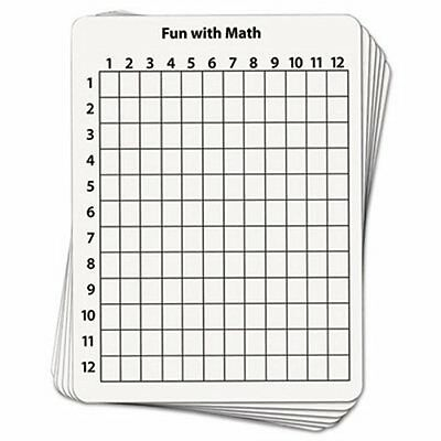 Creativity Street Math Dry Erase Whiteboard, 9 x 12, Grid, 10/Pack (CKC987610)