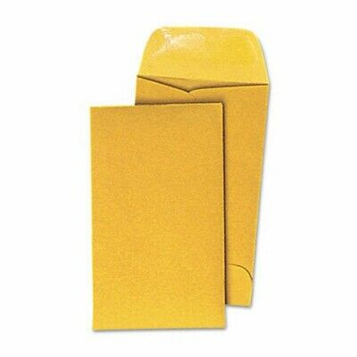 Universal Kraft Coin Envelope, #5, Light Brown, 500/Box (UNV35302)