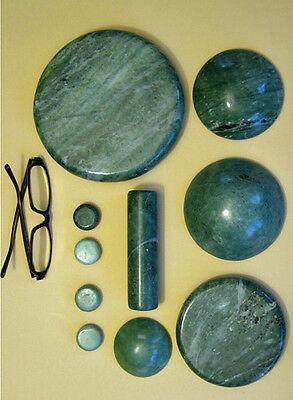 j03 HOT STONE Wellness JADE Steine Stones PROBIER  SET