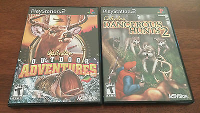 CABELA'S HUNTING GAME LOT OF 2 on Playstation 2 bundle VERY GOOD COMPLETE!