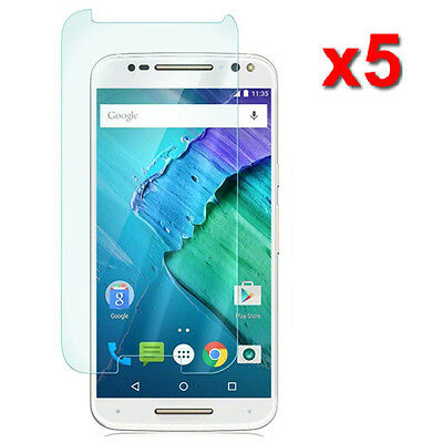 5X Crystal Clear LCD Screen Protector For Motorola Moto X Style Pure Edition