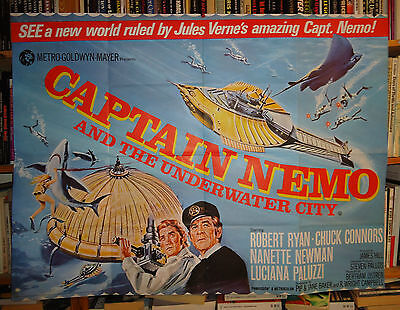 CAPTAIN NEMO AND THE UNDERWATER CITY/ROBERT RYAN// british quad poster