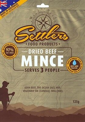 SETTLERS MEATS Dehydrated Triple Serve 125g/Pack Emergency Survival Camping Food