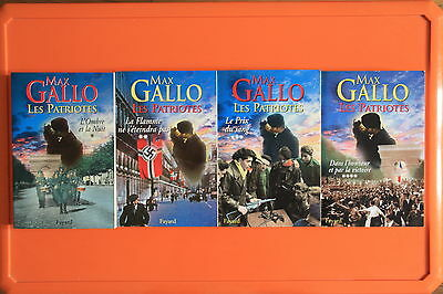 Max Gallo Les Patriotes T 1 2 3 4 + Poster Guide + Je Suis Charlie Hommages