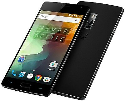 "OnePlus 2 Two 64GB Black (FACTORY UNLOCKED) 5.5"" Full HD , 13MP , 4GB RAM"