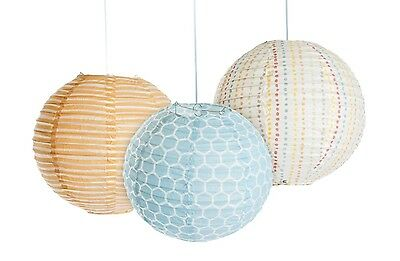 Kidsline Whos At The Zoo Lanterns Hanging Room Decor 3 Count