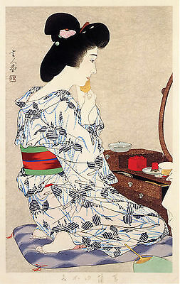 Japanese Art Print: Kimono with the Iris Pattern - Kotondo Reproduction