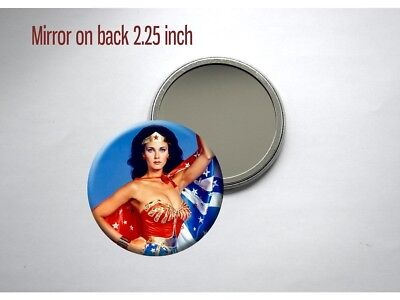 Wonder Woman Lynda Carter Classic TV Show Sexy Pocket/Purse Mirror