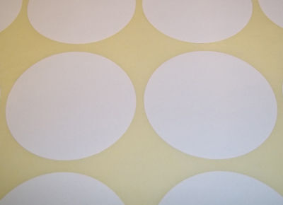 300 White 45mm 1 3/4 Inch Colour Code Dots Round Stickers Sticky ID Labels